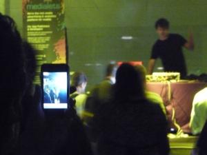 BT spinning, Geeks Dancing, iPhones taking pictures